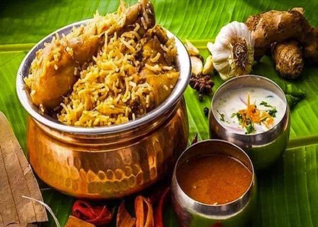 Sri khumbhakarana offers you Indian Andhra Food Chicken Biryani_Srikumbhakarna Singapore