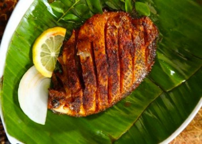 Authentic Indian Andhra Food fish-fry-Srikumbhakarna Singapore